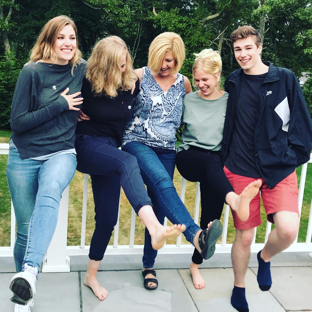 Coach Kat and her four fun kids